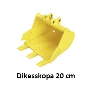 Dikesskopa minigrävare 20 cm