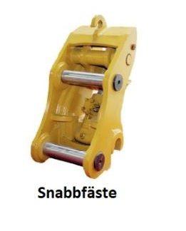 Snabbfäste minigrävare för att snabbt kunna byta verktyg på minigrävaren.