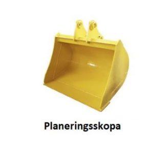 Planeringsskopa minigrävare finns i 60cm, 80cm och 100cm utförande