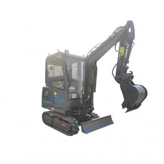Minigrävare 2 ton med hytt, tillbehör som hydraulhammare, jordborr, planeringsskopa, rototilt, timmergrip, snabbfäste mm.