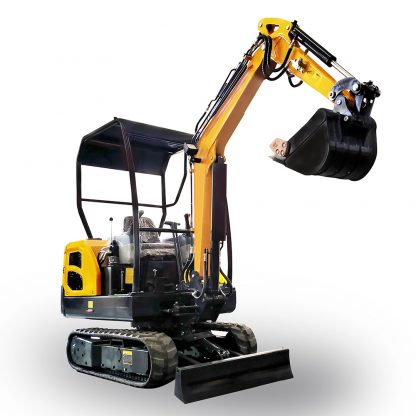 Minigrävare 2 ton, 2000 kg med tillbehör som snabbfäste, planeringsskopa, tjälkrok, jordborr, hydraulhammare, räffsa, timmergrip mm.