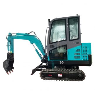 minigrävare 3 ton, 3000 kg med tillbehör som jordborr, snabbkoppling, hydraulhammare, planerskopa mm.
