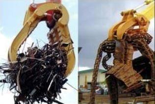 Timmergrip minigrävare - används till att gripa timmer, skrot, träd mm och lyfta och bära dom med minigrävaren.